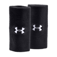 Under Armour Under Armour 6in Performance Wristband  Black/White  Black/White 12180060001