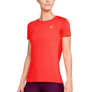 Women`s Tennis T-Shirts and Polos Under Armour HeatGear Armour TShirt  Fluo Coral 12856370985