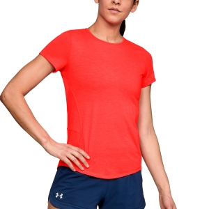 Women`s Tennis T-Shirts and Polos Under Armour Threadborne Swyft TShirt  Fluo Coral 13184210985