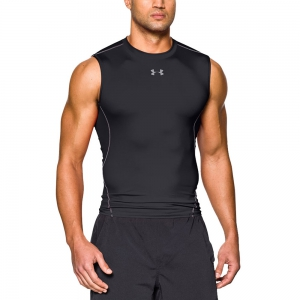 Intimo de Tenis Hombre Under Armour HeatGear Compression Singlet  Black 12574690001