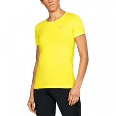 Under Armour Under Armour HeatGear Armour TShirt  Yellow  Yellow 12856370159
