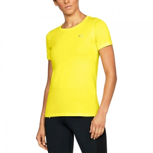 Women`s Tennis T-Shirts and Polos Under Armour HeatGear Armour TShirt  Yellow 12856370159