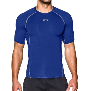 Intimo de Tenis Hombre Under Armour HeatGear Compression TShirt  Blue 12574680400