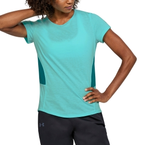 Women`s Tennis T-Shirts and Polos Under Armour Threadborne Swyft TShirt  Turquoise 13184210425