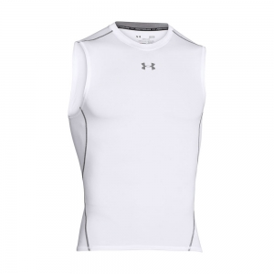 Intimo de Tenis Hombre Under Armour HeatGear Compression Singlet  White 12574690100