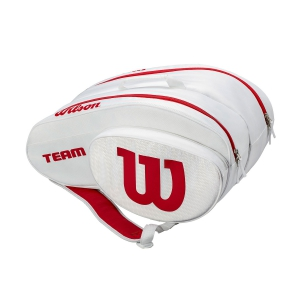 Padel Bags Wilson Team Padel Bag  White/Red WRZ608000