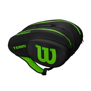 Padel Bags Wilson Team Padel Bag  Black/Green WRZ608100
