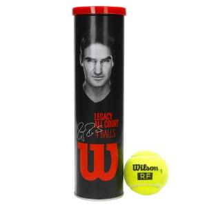 Pelotas Tenis Wilson Wilson RF Legacy  Tubo de 4 Pelotas WRT11990M