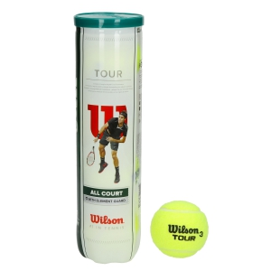 Wilson Tennis Balls Wilson All Court Tour  4 Ball Can WRT115700