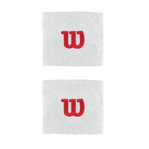 Muñequeras y Bandanes de Tenis Wilson Wristband  White/Red WR5602100