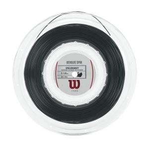 Polyester String Wilson Revolve Spin 1.25 200 m Reel  Black WRZ908100