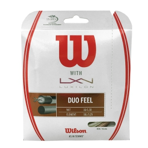 Cordaje Híbrido Wilson Duo Feel 1.25 + 1.30 Set 12 mt  Bronze/Natural WRZ949730
