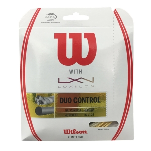 Cordaje Híbrido Wilson Duo Control 1.25 +.1.32 Set 12 mt  Gold/Natural WRZ949720