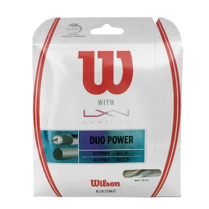 Cordaje Híbrido Wilson Duo Power 1.25 + 1.30 Set 12 mt  Silver/Natural WRZ949710