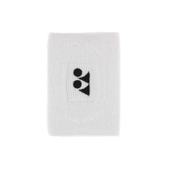 Tennis Head and Wristbands Yonex Long Wristband  White AC488EXB
