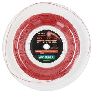 Polyester String Yonex PolyTour Fire 1.30 200 m Reel  Red PTF1302R