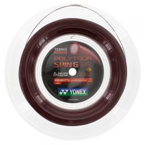 Polyester String Yonex PolyTour Spin G 1.25 200 m Reel  Red PTGG1252