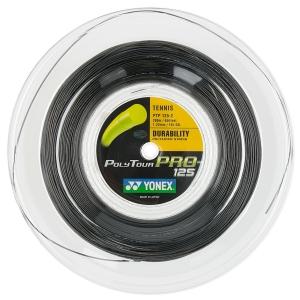 Polyester String Yonex PolyTour Pro 1.25 200 m Reel  Black PTGP1252GR
