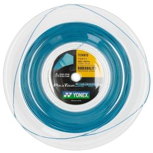 Polyester String Yonex PolyTour Spin 1.25 200 m Reel  Cobalt Blu PTGSPN2