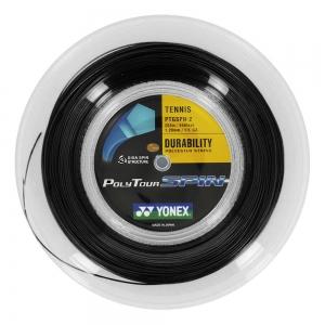 Polyester String Yonex PolyTour Spin 1.20 200 m Reel  Black PTS1202N