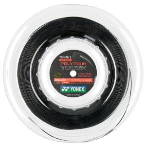 Polyester String Yonex PolyTour Tough 1.25 200 m Reel  Black PTT1252BK