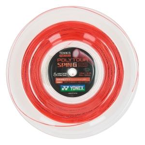 Polyester String Yonex PolyTour Spin G 1.25 200 m Reel  Orange PTGG1252A