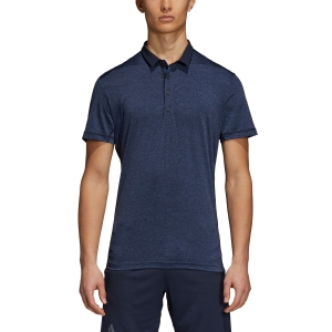 Men's Tennis Polo Adidas Heathered Polo  Dark Blue D93662