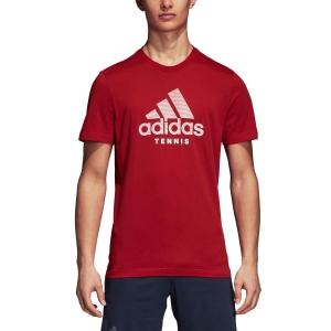 Men's Tennis Shirts Adidas Category TShirt  Red DJ1696