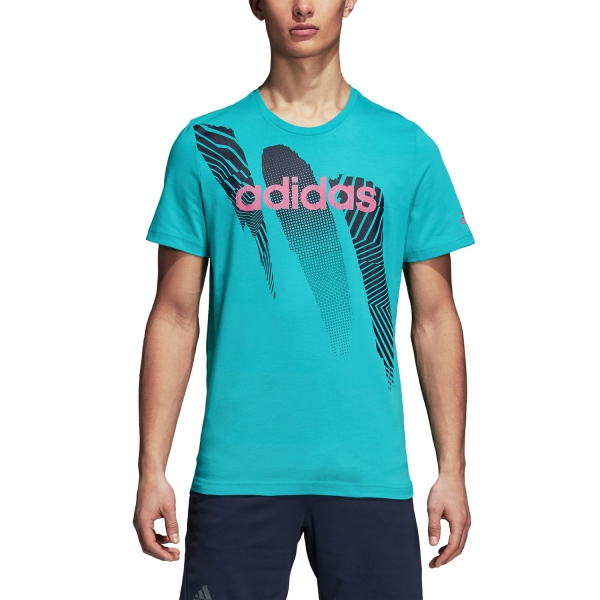 Adidas Seasonal T-Shirt - Turquoise DJ1719