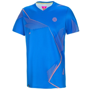 Men's Tennis Shirts Bidi Badu Sunil Tech VNeck TShirt  Blue/Orange 001148BLDBOR