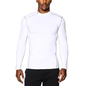 Tennis Men's Underwear Under Armour ColdGear Compression Mock Shirt  White 12656480100