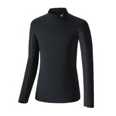 Mizuno Junior MidWeight High-Neck Shirt - Black