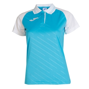 Women`s Tennis T-Shirts and Polos Joma Torneo II Polo  Turquoise/White 900454.010