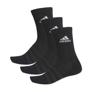 Tennis Socks Adidas Cushioned Crew X 3 Socks  Black/White DZ9357