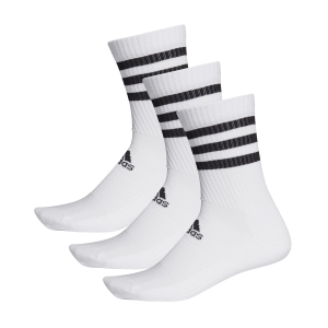 Tennis Socks Adidas 3 Stripes Cushioned Crew X 3 Socks  White DZ9346