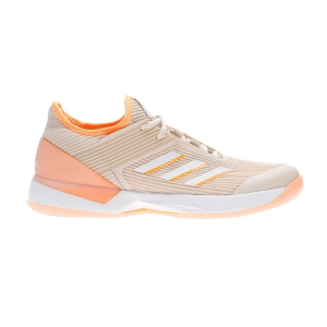 Women`s Tennis Shoes Adidas Adizero Ubersonic 3.0  Linen/Ftwr White/Flash Orange EF1155