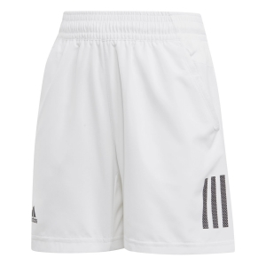Tennis Shorts and Pants for Boys Adidas Boy Club 3 Stripes 5in Shorts  White/Black DU2489