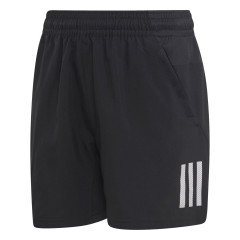 adidas adidas Club 3 Stripes 5in Shorts Boy  Black/White  Black/White DU2490