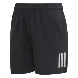 Tennis Shorts and Pants for Boys Adidas Boy Club 3 Stripes 5in Shorts  Black/White DU2490