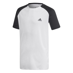 Polo e Shirts Tennis Adidas Boy Club TShirt  White/Black DU2478