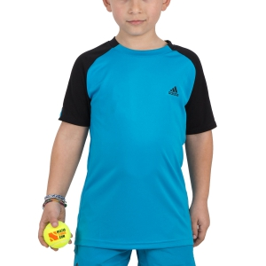 Polo e Shirts Tennis Adidas Boy Club TShirt  Blue/Black DU2479