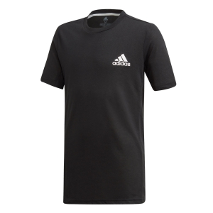 Tennis Polo and Shirts Adidas Boy Escouade TShirt  Black/White DU2481