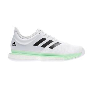 Scarpe Tennis Uomo Adidas SoleCourt Boost  Cloud White/Core Black/Glow Green EF2068