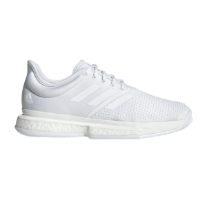 Men`s Tennis Shoes Adidas SoleCourt Boost Parley  White/Core Black EF2071