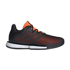 Men`s Tennis Shoes Adidas SoleMatch Bounce Clay  Core Black/Solar Orange EF4442