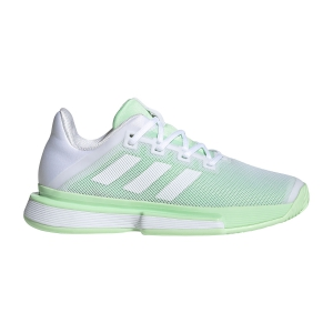 Women`s Tennis Shoes Adidas SoleMatch Bounce  Ftwr White/Glow Green G26790