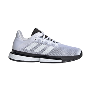 Men`s Tennis Shoes Adidas SoleMatch Bounce  Ftwr White/Core Black G26602