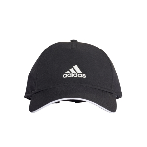 Tennis Hats and Visors Adidas 5 Panel Climalite Cap Junior  Black/White CG1781OSFY