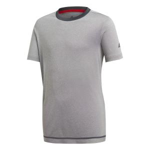 Tennis Polo and Shirts Adidas Boy Barricade TShirt  Grey DH2784