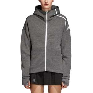 Women's Tennis Shirts and Hoodies Adidas Z.N.E. Hoodie  Grey DN2260
